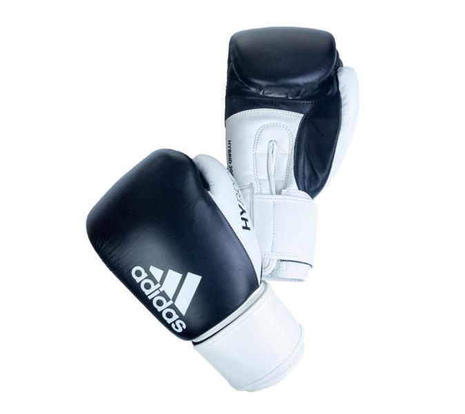 Перчатки боксерские Hybrid 200 черно-белые, 10 унций Adidas