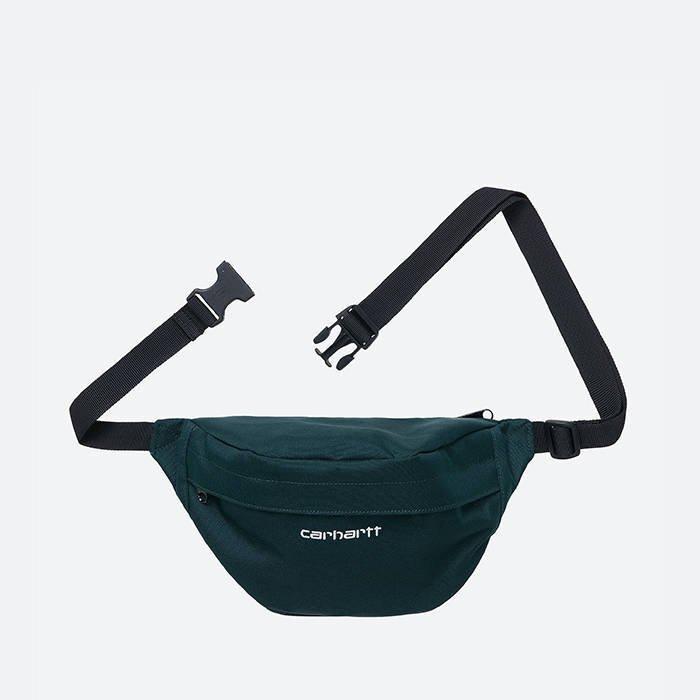 Сумка поясная CARHARTT WIP Payton Hip Bag  Deep Lagoon / White 2021