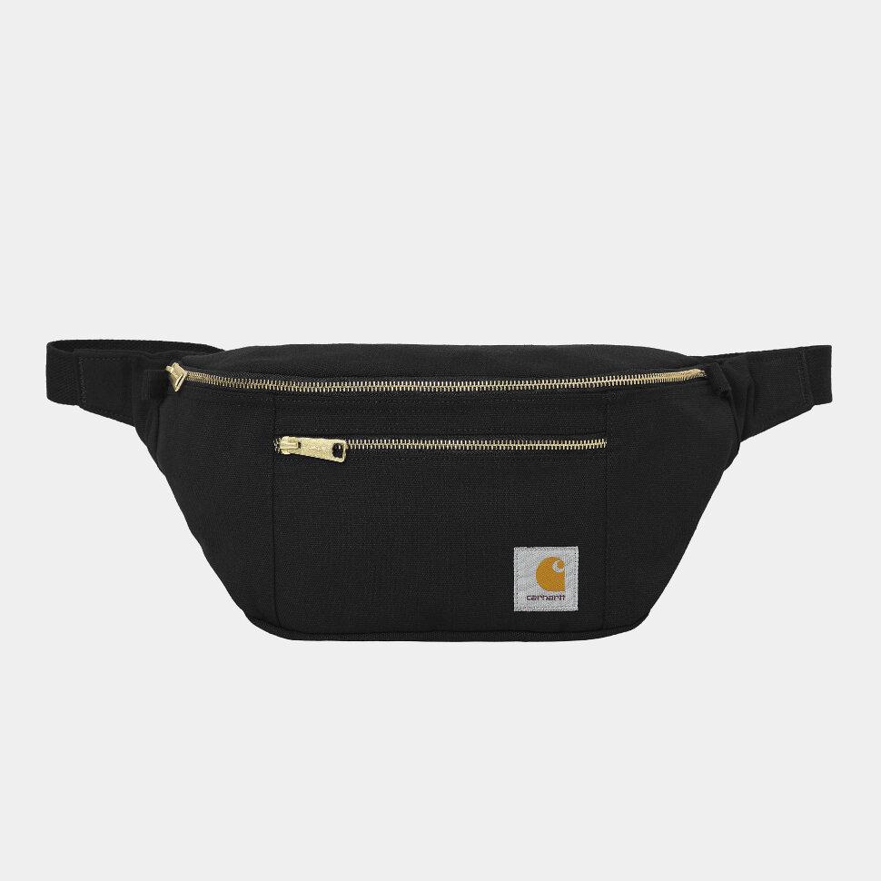 Сумка поясная CARHARTT WIP Canvas Hip Bag  Black / Black 2021