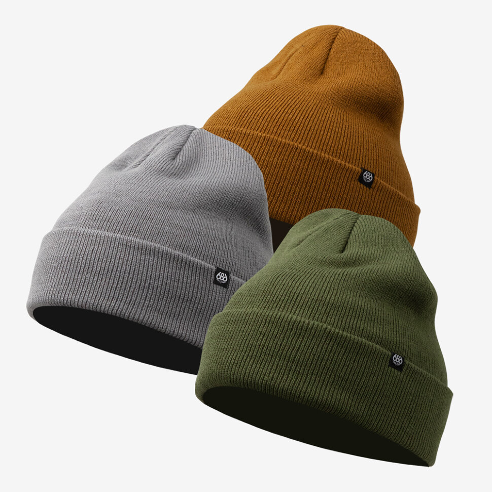 Шапка 686 Standard Roll Up Beanie - 3 Pk Earth Pack 2021